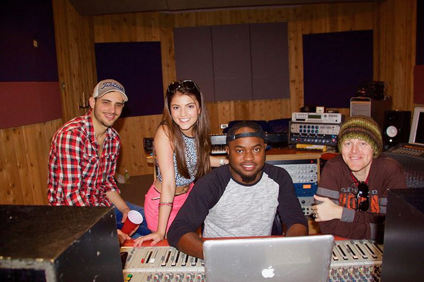 Kendall Working in the Studio